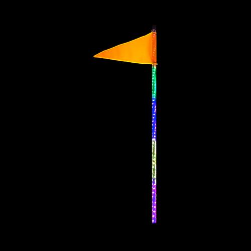 4 Foot HD RGB Accent LED Whip Light Single Quake LED