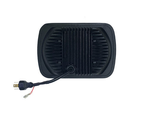 5x7 Inch Headlight 39 Watt High/Low Half Halo Jeep YJ/XJ Tempest Series Quake LED
