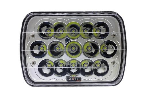 5x7 Inch Headlight 45 Watt High/Low Tempest Series Jeep XJ/YJ Quake LED