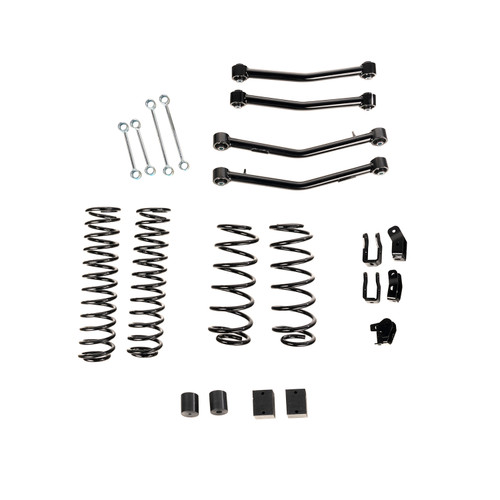 """4"""" Lift Kit Without Shocks, With Arms, 18-20 Jeep Wrangler JL, 4 Door"""
