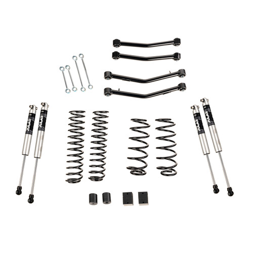 """4"""" Lift Kit With Fox Shocks, With Arms, 18-20 Jeep Wrangler JL, 4 Door"""