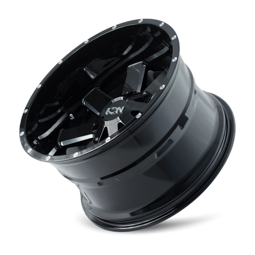 ION | 141 141) GLOSS BLACK/MILLED SPOKES