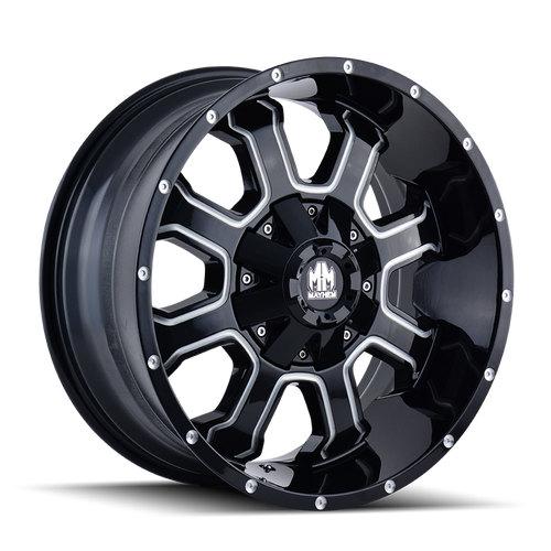 MAYHEM | FIERCE 8103) GLOSS BLACK/MILLED SPOKES