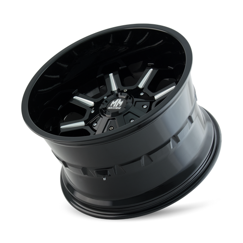 MAYHEM | COMBAT 8105) GLOSS BLACK/MILLED SPOKES