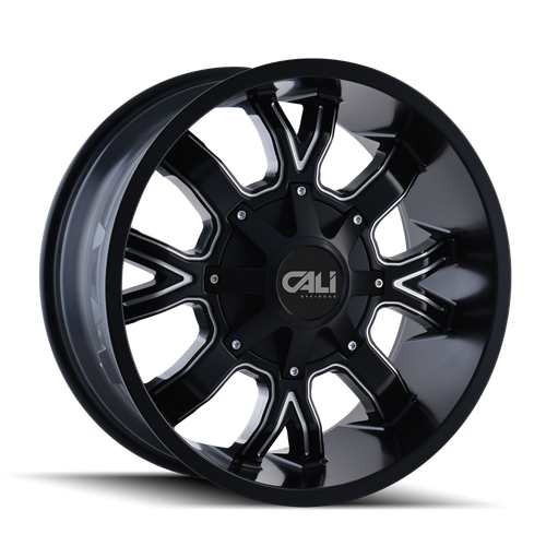 CALI OFF-ROAD | DIRTY 9104) SATIN BLACK/MILLED SPOKES