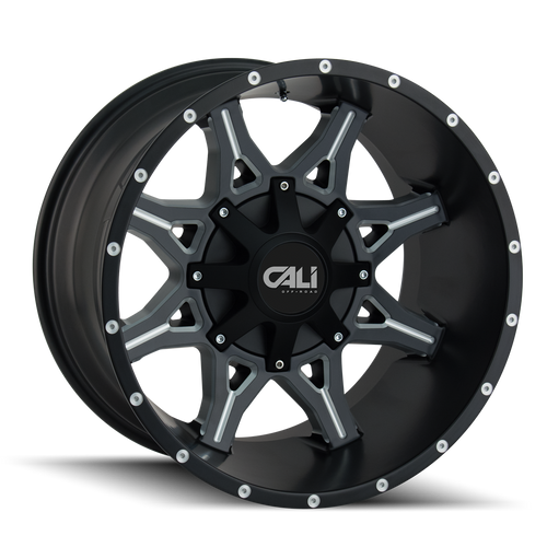 CALI OFF-ROAD | OBNOXIOUS 9107) SATIN BLACK/MILLED SPOKES
