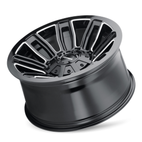 MAYHEM | DECOY 8108) GLOSS BLACK/MILLED SPOKES