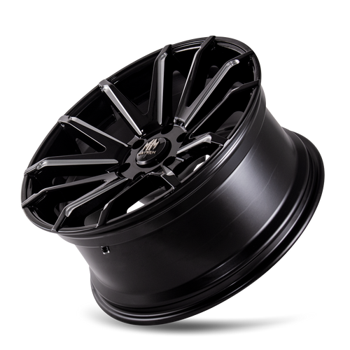 MAYHEM | CROSSFIRE 8109) GLOSS BLACK/MILLED SPOKES