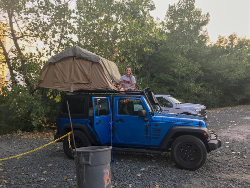 Rooftop Tent 2 Person Delta Overland Sand Tuff Stuff Overland