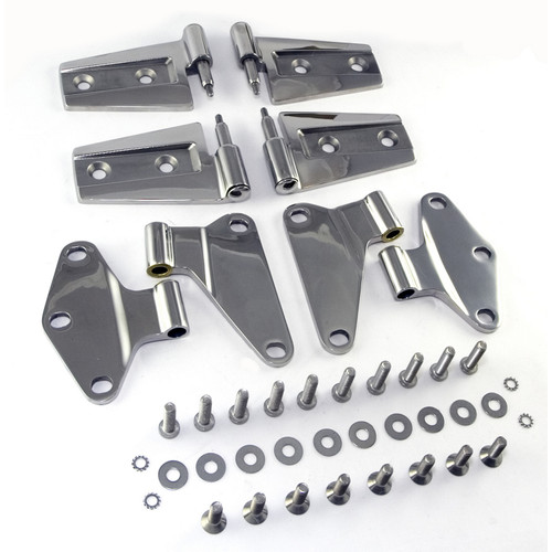 Door Hinge Kit, Stainless Steel; 07-18 Jeep Wrangler JK | Rugged Ridge