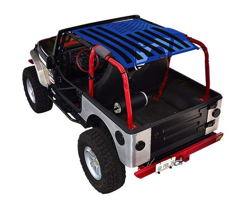 SpiderWeb Shade Tactical Flag Solid Jeep TJ