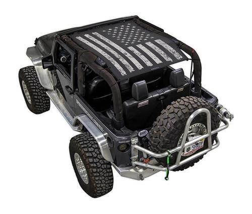 SpiderWeb Shade Jeep JK 2D Tactical Flag Distressed