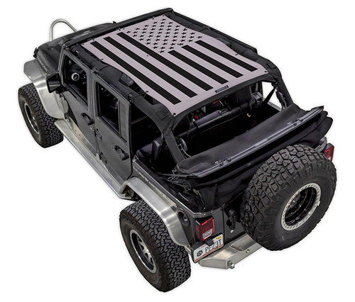 SpiderWeb Shade Jeep JK 4D Tactical Flag Solid