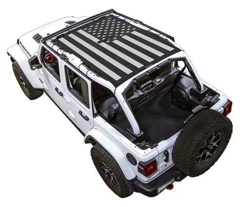 SpiderWeb Shade Jeep JL 4D Tactical Flag Solid