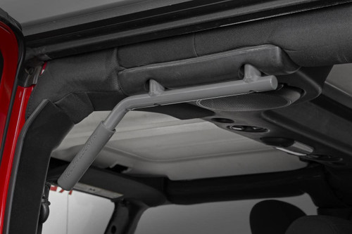 Jeep Solid Steel Grab Handle Set 07-18 Wrangler JK | Gray)