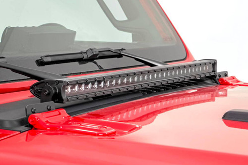 Jeep 30-inch LED Hood Kit 18-19 Wrangler JL, 2020 Gladiator JT   Black-Series)