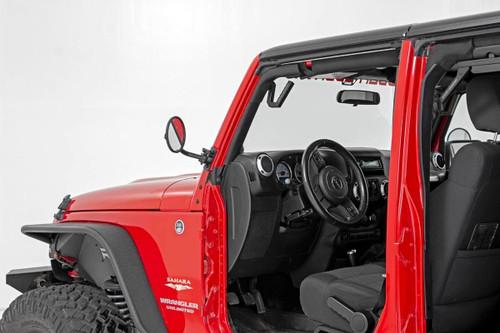 Jeep Classic Round Folding Mirror 07-18 Wrangler JK)