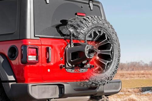 Jeep Spare Tire Relocation Bracket 18-19 Wrangler JL, No Rear Proximity Sensors)