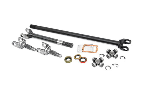 4340 Chromoly Replacement Front Axle Kit w/ Grizzly Locker - Dana 30, 30 Spline TJ/YJ/XJ/ZJ)