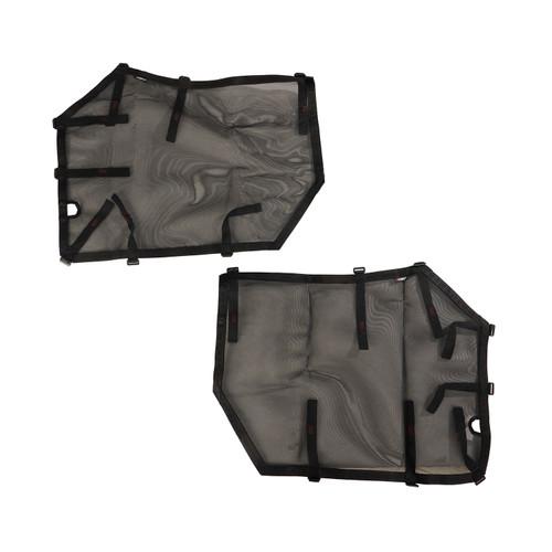 Fortis Tube Door Covers, Front Pair, Black, 18-19 Jeep Wrangler JL/JLU