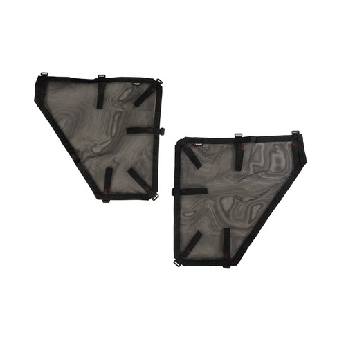 Fortis Tube Door Covers, Rear Pair, Black, 18-19 Jeep Wrangler JLU