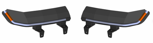 Jeep Wrangler JL/Gladiator 9.5 x 4.25 Inch Retro-Fit Slim Chop Kit DRL w/ Sequential Switchback Turn Signal & Side Marker Light Quake LED