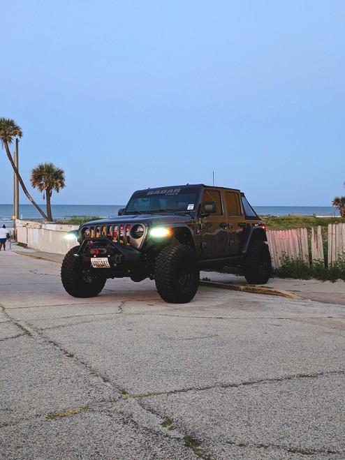 Jeep Wrangler JL/Gladiator 9.5 x 1.5 Inch Fender Chop Kit w/ DRL Switchback Turn Signal & Side Marker Light Quake LED