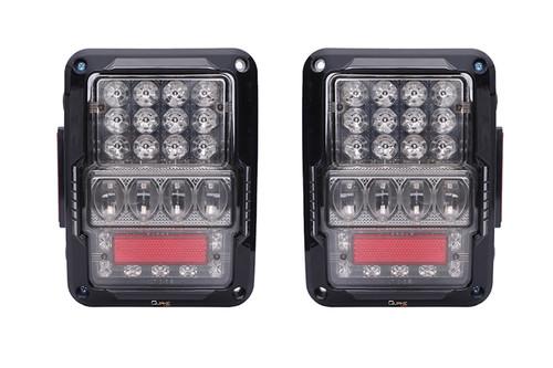 Jeep JK White Out LED Tail Lights Quake LED