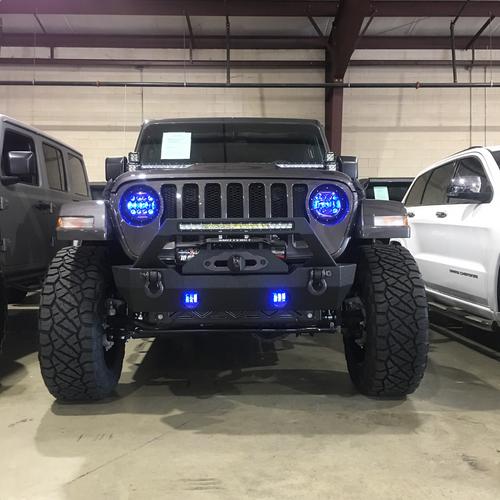 Jeep JK/CJ/TJ 4 Inch 30 Watt Fog Light Black Reflector Tempest Series Quake LED