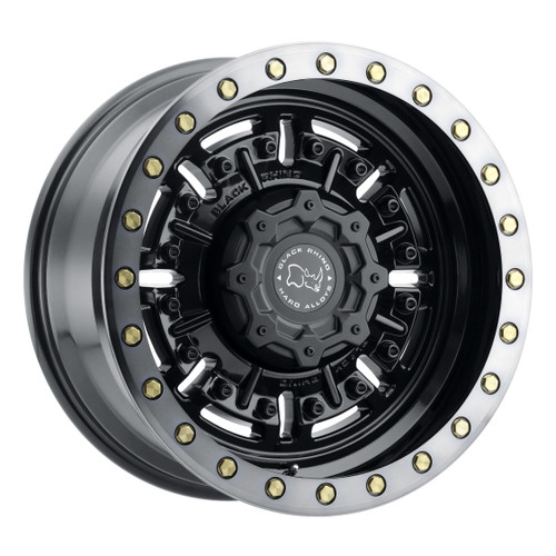 BLACK RHINO ABRAMS 20x9.5 5/127 ET-18 CB71.6 GLOSS GUNBLACK W/MACHINED DARK TINT