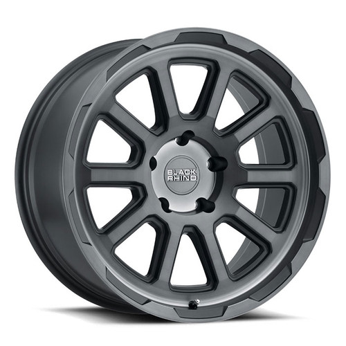 BLACK RHINO CHASE 17x8.0 5/127 ET10 CB71.6 BRUSHED GUNMETAL