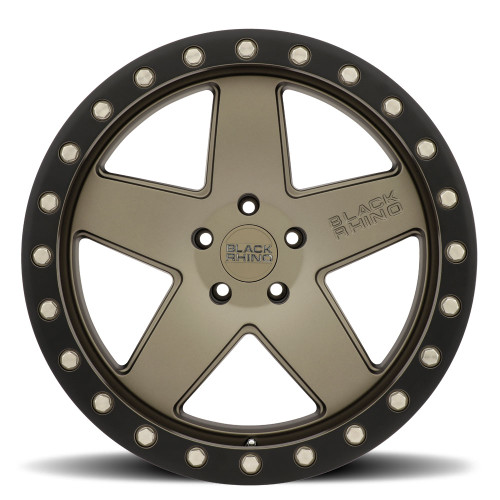 BLACK RHINO CRAWLER 18x9.5 5/127 ET-18 CB71.6 MATTE BRONZE W/MATTE BLACK RING