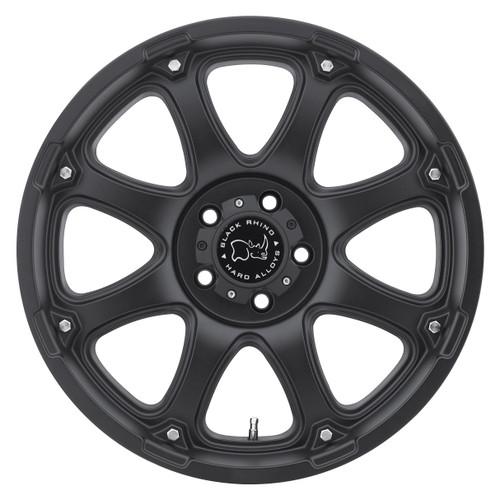 BLACK RHINO GLAMIS 17x9.0 5/127 ET-12 CB78.1 MATTE BLACK