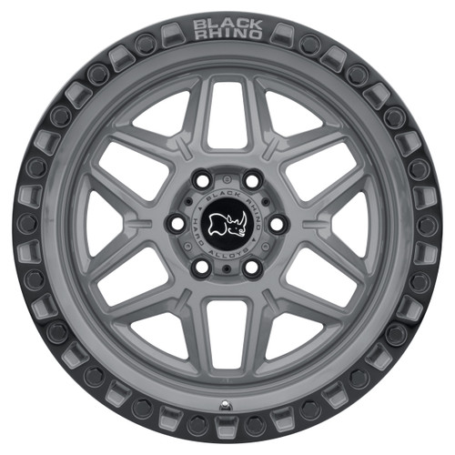 BLACK RHINO KELSO 18X9.0 5/127 ET-18 CB71.6 BATTLESHIP GRAY W/BLK LIP EDGE AND BLK