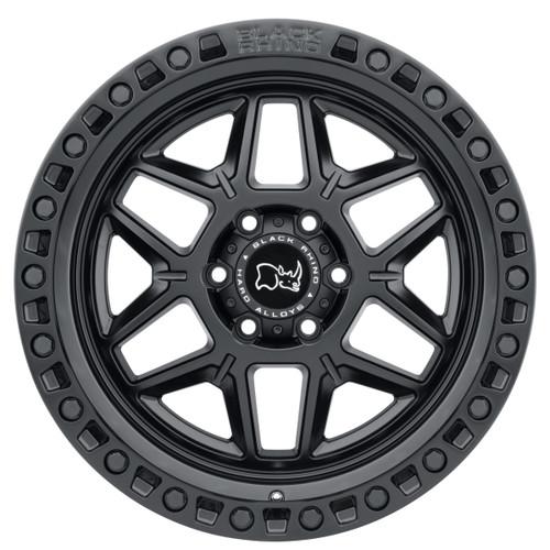 BLACK RHINO KELSO 17x9.0 5/127 ET-18 CB71.6 MATTE BLACK W/BLK BOLTS