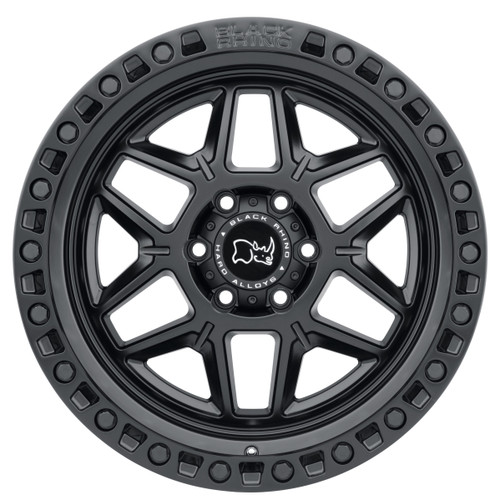 BLACK RHINO KELSO 18X9.0 5/127 ET-18 CB71.6 MATTE BLACK W/BLK BOLTS