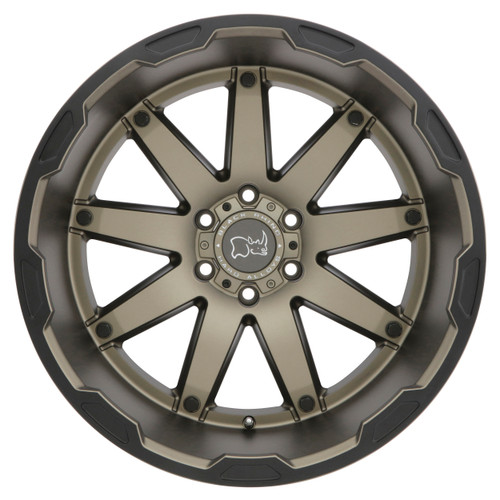 BLACK RHINO OCEANO 17x9.5 5/127 ET-18 CB71.6 MATTE BRONZE W/BLACK LIP EDGE