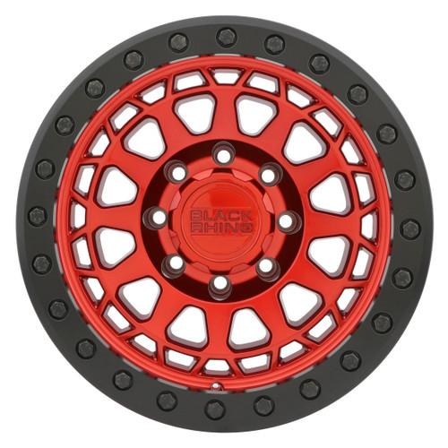 BLACK RHINO PRIMM BEADLOCK 17x8.5 5/114.3 ET-38 CB71.6 CANDY RED W/BLACK RING AND