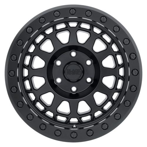 BLACK RHINO PRIMM BEADLOCK 17x8.5 5/114.3 ET-38 CB71.6 MATTE BLACK W/BLACK BOLTS