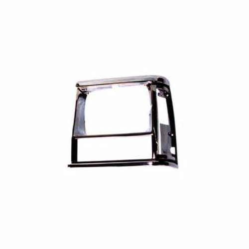 Omix-Ada, - LH Chrome, Black Headlight Bezel, 84-01 Jeep Cherokee XJ)