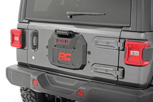 Jeep Spare Tire Delete Kit w/ 8in Black Series LED 18-19 JL)