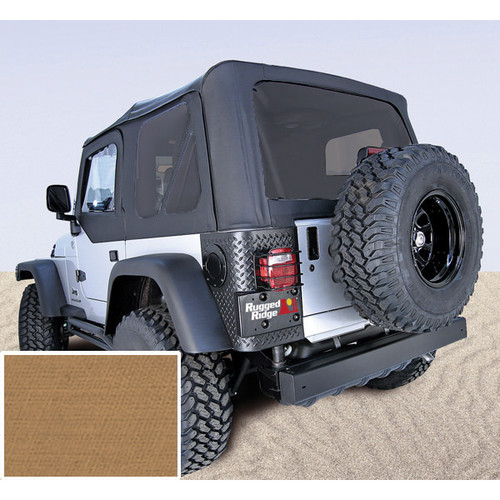 Rugged Ridge, 13704.37 - Soft Top, Door Skins, Spice, Tinted Windows, 97-02 Jeep Wrangler TJ) Garage Sale
