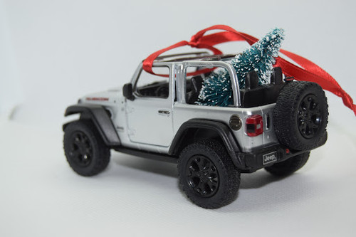 Jeep Wrangler JL Rubicon Ornament Silver