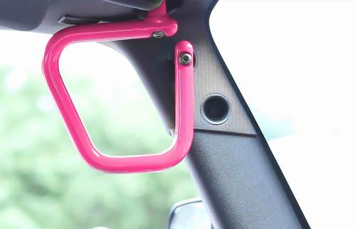 Steinjäger Grab Handle Kit Wrangler JK 2007-2018 Rigid Design Front Hot Pink