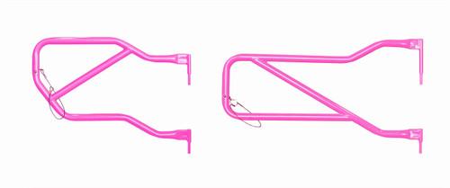 Steinjäger Doors, Tubular Wrangler JK 2007-2018 Hot Pink Front and Rear Doors