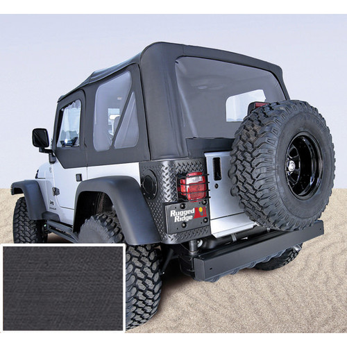 Rugged Ridge, 13725.15-GS - XHD Soft Top, Black, Clear Windows, 97-06 Jeep Wrangler (TJ)