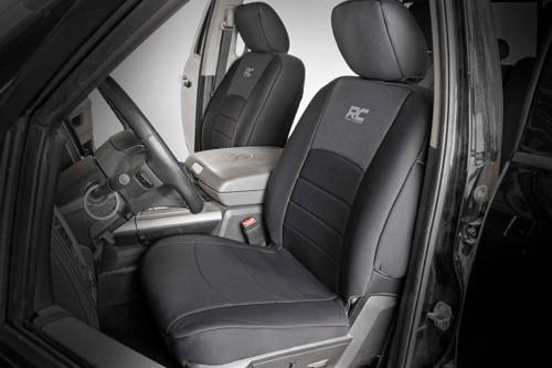 Dodge Neoprene Front & Rear Seat Covers (09-18 Ram 1500)