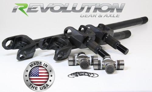 Dana 44 TJ/LJ Rubicon 4340 Chromoly US Made Front Axle Kit 2003-06 Revolution Gear and Axle