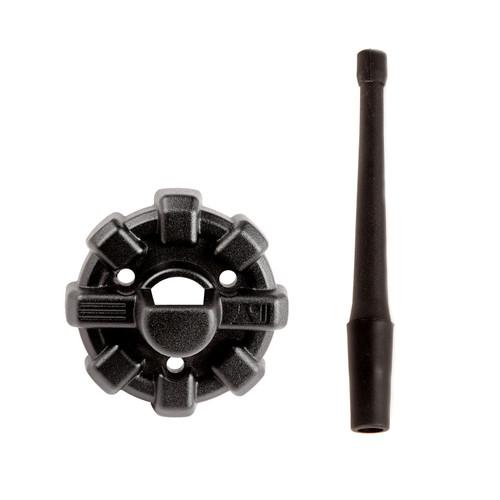 "9"" Reflex Antenna with Base; 07-20 Jeep Wrangler & Gladiator JK/JL/JT"