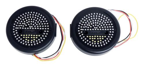 """5"""" Round LED Tail Light Kit for Jeep CJ-5, CJ-6, CJ-7, CJ-8 and YJ, TJ Wranglers"""